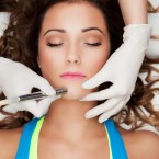 Skin rejuvenation concept,  laser face treatment